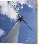 Wind Turbine Wood Print