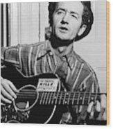 Woody Guthrie (1912-1967) Wood Print