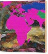 World Map And Human Life Wood Print