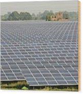 Wymeswold Solar Farm Wood Print