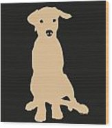 Yellow Labrador Wood Print