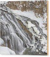 Yellowstone Falls Wood Print by David Yack