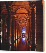Yerebatan Sarayi Cistern Istanbul  Turkey  Wood Print