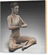 Yoga Meditation Pose Wood Print