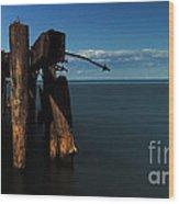 50 Point Wood Print