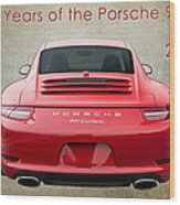 50 Years Of The Porsche 911 E182 Wood Print