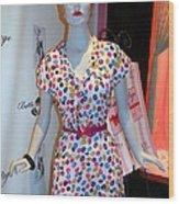 50's Fashion Wood Print