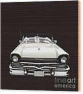 50s Ford Fairlane Convertible Wood Print