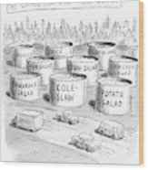 The Coffee Shop Vats Of New Jersey Wood Print