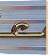 55 Chevy Bel Air Wood Print