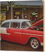55 Chevy Belair Wood Print