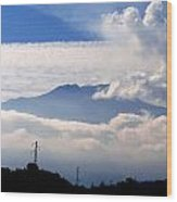 View Of Mt. Etna From Taormina Sicily Wood Print