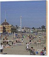558 Pr Santa Cruz Main Beach Wood Print