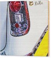56 Chevy Bel-air Tail Light Wood Print