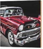 56 Chevy Wood Print