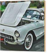 '56 Corvette Wood Print