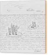 New Yorker July 21st, 2008 Wood Print