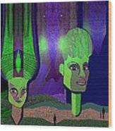 566 - Sphinxes In Fairyland Wood Print