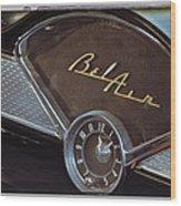 57 Chevy Bel Air Dash Wood Print
