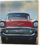 57 Chevy Full Frontal Wood Print