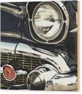 57 Chevy Headlight Wood Print