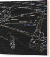 57 Chevy Neon Glow Wood Print by Steve McKinzie