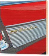 57 Chevy Tail Fin Wood Print