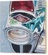 57 Chevy Taillight Wood Print