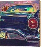 57 Ford T Bird Tail Wood Print