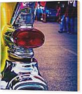 57 Pontiac Tail Light Wood Print