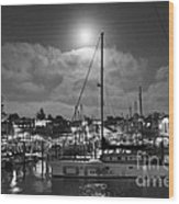 570 Bw The Sea Odessy                                      In Monochome 2 Wood Print