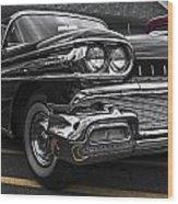 58oldsmobile Super 88 Headlights Wood Print