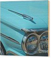 59 Pontiac Catalina Hood Ornament Wood Print