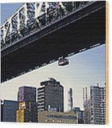 59th Street Tram - Nyc Wood Print