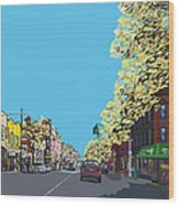 5th Ave And Garfield Park Slope Brooklyn Wood Print
