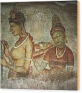 5th Century Cave Frescoes Wood Print