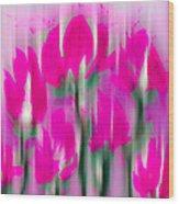 6 1/2 Flowers Wood Print