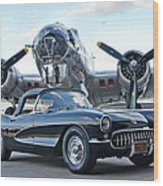 1957 Chevrolet Corvette Wood Print