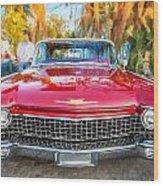 1960 Cadillac Eldorado Biarritz Convertible Painted  Wood Print