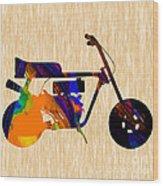 1960s Mini Bike Wood Print
