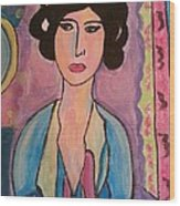 A Lady Wood Print