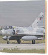 A Qatar Emiri Air Force Mirage 2000 Wood Print