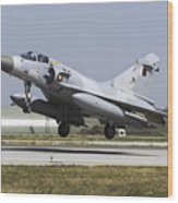 A Qatar Emiri Air Force Mirage Wood Print