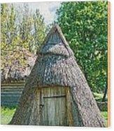 A Typical Ukrainian Antique Hut Wood Print