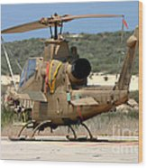 An Ah-1s Tzefa Attack Helicopter Wood Print