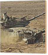 An Israel Defense Force Merkava Mark II Wood Print