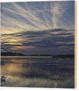 An Outer Banks Of North Carolina Sunset Wood Print
