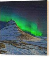 Aurora Borealis Or Northern Lights Wood Print