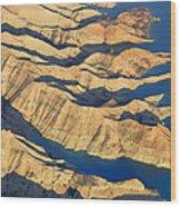 Bad Lands Wood Print