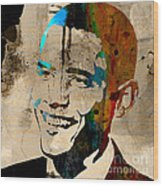 Barack Obama Wood Print by Marvin Blaine